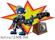 Робот басист. Стоковая иллюстрация, иллюстратор Николаев Олег / Фотобанк Лори