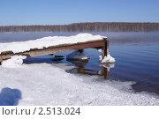 Зимний берег озера. Стоковое фото, фотограф Андрей Дмитриев / Фотобанк Лори