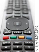 Пульт дистанционного управления. Фокус на цветных кнопках, малая глубина резкости. Стоковое фото, фотограф UladzimiR / Фотобанк Лори