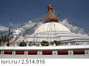 Купить «Боднатх ступа. Непал. Катманду», фото № 2514916, снято 20 апреля 2011 г. (c) Александр Давыдов / Фотобанк Лори