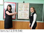Купить «На уроке английского языка в средней школе», фото № 2519540, снято 28 апреля 2011 г. (c) Федор Королевский / Фотобанк Лори