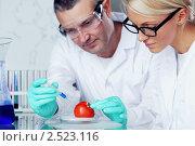 Два специалиста в химической лаборатории. Стоковое фото, фотограф Иван Михайлов / Фотобанк Лори