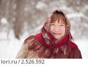 Купить «Пожилая женщина в русском платке», фото № 2526592, снято 19 февраля 2011 г. (c) Яков Филимонов / Фотобанк Лори