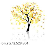 Осеннее дерево. Стоковая иллюстрация, иллюстратор Павел Коновалов / Фотобанк Лори