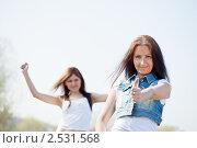 Купить «Две счастливые женщины в парке», фото № 2531568, снято 4 мая 2011 г. (c) Яков Филимонов / Фотобанк Лори