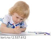 Купить «Девочка рисует», фото № 2537612, снято 14 мая 2011 г. (c) Валерий Александрович / Фотобанк Лори