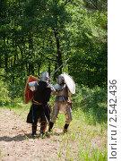 Купить «Битва рыцарей», фото № 2542436, снято 5 июня 2010 г. (c) Яков Филимонов / Фотобанк Лори