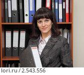 Купить «Женщина  в офисе», фото № 2543556, снято 22 апреля 2011 г. (c) Дорощенко Элла / Фотобанк Лори