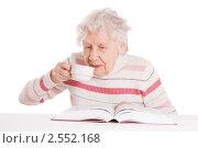 Купить «Пожилая женщина читает книгу», фото № 2552168, снято 14 ноября 2018 г. (c) Воронин Владимир Сергеевич / Фотобанк Лори