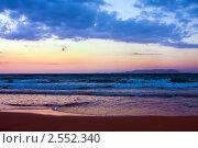 Морской пейзаж. Закат, Греция, остров Крит (2010 год). Стоковое фото, фотограф ElenArt / Фотобанк Лори