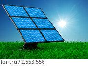 Купить «Солнечная батарея на траве», иллюстрация № 2553556 (c) Ильин Сергей / Фотобанк Лори