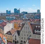 Вид на город из башни Старого Томаса. Таллин (2011 год). Редакционное фото, фотограф Румянцева Наталия / Фотобанк Лори