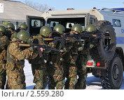 Купить «Полицейский спецназ», эксклюзивное фото № 2559280, снято 18 марта 2011 г. (c) Free Wind / Фотобанк Лори