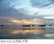 Морской пейзаж на закате (2006 год). Стоковое фото, фотограф Баранов Александр / Фотобанк Лори