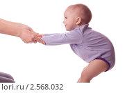 Маленькая девочка держит маму за руки. Стоковое фото, фотограф Камалетдинов Ринат Хусаенович / Фотобанк Лори