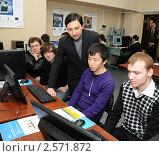 Студенты на занятиях (2011 год). Редакционное фото, фотограф Юрий Пирогов / Фотобанк Лори