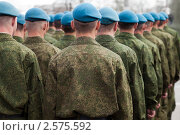 Купить «Служба в армии - отряд солдат в униформе», фото № 2575592, снято 9 мая 2011 г. (c) Илья Андриянов / Фотобанк Лори