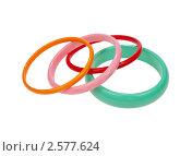 Цветные браслеты на запястье. Стоковое фото, фотограф Алексей Климков / Фотобанк Лори