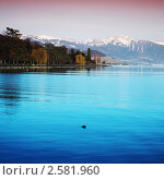 Купить «Женевское озеро», фото № 2581960, снято 22 февраля 2019 г. (c) Иван Михайлов / Фотобанк Лори