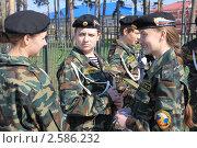 Купить «Девушки в военной форме», фото № 2586232, снято 9 мая 2011 г. (c) Анатолий Матвейчук / Фотобанк Лори