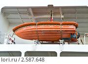 Купить «Спасательный бот», фото № 2587648, снято 4 июня 2011 г. (c) Parmenov Pavel / Фотобанк Лори