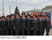 Купить «Сотрудники патрульно - постовой службы на параде», эксклюзивное фото № 2588092, снято 9 мая 2011 г. (c) Free Wind / Фотобанк Лори