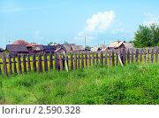 Околица деревни, фото № 2590328, снято 11 июня 2011 г. (c) Евгений Ткачёв / Фотобанк Лори