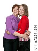 Купить «Девушка с мамой», фото № 2591344, снято 10 июня 2011 г. (c) Руслан Кудрин / Фотобанк Лори