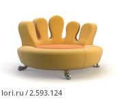 Стильный диван. Стоковая иллюстрация, иллюстратор Дмитрий Зубарчук / Фотобанк Лори