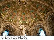Купить «Интерьер базилики Нотр-Дам-де-Фурвьер (Basilica of Notre-Dame de Fourviere). Лион. Франция.», фото № 2594560, снято 24 мая 2011 г. (c) Алексей Зарубин / Фотобанк Лори