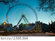 Колесо обозрения на фоне неба. Стоковое фото, фотограф Aleksandrs Jemeļjanovs / Фотобанк Лори