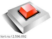 Красная кнопка. Стоковая иллюстрация, иллюстратор Aqua / Фотобанк Лори