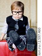 Мальчик в очках. Стоковое фото, фотограф Ольга Шабалкина / Фотобанк Лори