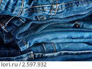 Стопка джинсов. Стоковое фото, фотограф Мария Исаченко / Фотобанк Лори
