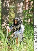 Купить «Рыцарь в лесу», фото № 2599456, снято 5 июня 2010 г. (c) Яков Филимонов / Фотобанк Лори