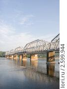 Купить «Красноярск. Железнодорожный мост через Енисей», эксклюзивное фото № 2599944, снято 23 марта 2019 г. (c) Шичкина Антонина / Фотобанк Лори
