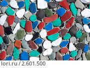 Купить «Фон. Мозаика из цветных камней», фото № 2601500, снято 12 июня 2011 г. (c) А. А. Пирагис / Фотобанк Лори