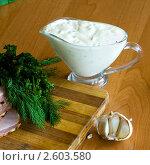 Купить «Соус с чесноком и зеленью», фото № 2603580, снято 14 апреля 2009 г. (c) Величко Микола / Фотобанк Лори