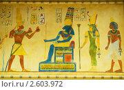 Купить «Египетские росписи на стене», фото № 2603972, снято 10 июня 2010 г. (c) Elnur / Фотобанк Лори