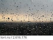 Капли на окне после дождя. Стоковое фото, фотограф Алексей Петренко / Фотобанк Лори