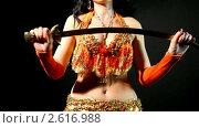 Купить «Арабский танец живота с саблей», видеоролик № 2616988, снято 19 октября 2010 г. (c) Гурьянов Андрей / Фотобанк Лори