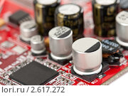 Купить «Печатная плата с элементами», фото № 2617272, снято 15 июня 2011 г. (c) Руслан Кудрин / Фотобанк Лори