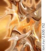 Купить «Абстрактный фоновый рисунок в виде волн золотистого цвета», иллюстрация № 2630152 (c) Владимир Чернов / Фотобанк Лори