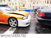Купить «Автомобильная авария», фото № 2633732, снято 14 ноября 2018 г. (c) Дмитрий Калиновский / Фотобанк Лори