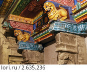 Купить «Храм богини Минакши, Мадураи, Индия», фото № 2635236, снято 10 марта 2011 г. (c) Владимир Журавлев / Фотобанк Лори