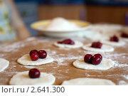 Приготовление вареников с вишней. Стоковое фото, фотограф Величко Микола / Фотобанк Лори