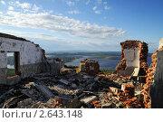 Купить «Разрушенное здание из красного кирпича», фото № 2643148, снято 28 июня 2011 г. (c) Валерий Александрович / Фотобанк Лори