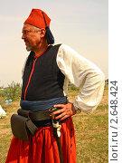 Турецкий янычар на реконструкции Альминского сражения (2010 год). Редакционное фото, фотограф Кирилл Губа / Фотобанк Лори