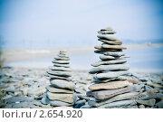 Пирамидки из камней. Стоковое фото, фотограф Марина Зимина / Фотобанк Лори