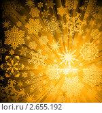 Купить «Рождественский фон со снежинками», иллюстрация № 2655192 (c) Kjolak / Фотобанк Лори